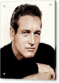 Paul Newman, Ca. 1963 Acrylic Print by Everett