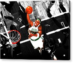 Paul Pierce In The Paint Acrylic Print by Brian Reaves
