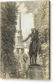 Paul Revere Rides Sketch Acrylic Print