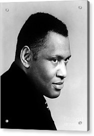 Acrylic Print featuring the photograph Paul Robeson by Granger