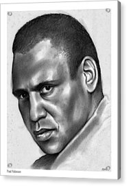 Paul Robeson Acrylic Print by Greg Joens