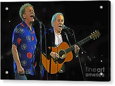 Paul Simon And Art Garfunkel Digital Painting Acrylic Print