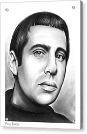Paul Simon Acrylic Print by Greg Joens