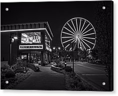 Paula Deen's At Night In Black And White Acrylic Print