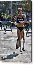Paula Radcliffe Nyc Marathon Acrylic Print by Terry Cork