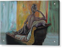 Acrylic Print featuring the painting Pauline by Nancy Bradley