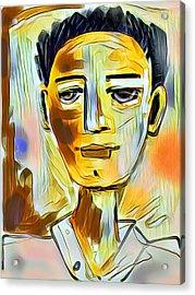 Pauls Portrait Acrylic Print by Elaine Lanoue