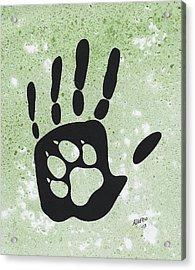 Paw And Hand Acrylic Print