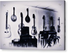Pawn Shop Guitars Acrylic Print by Bill Cannon