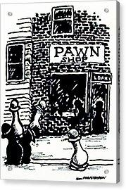 Pawn Shop Acrylic Print by James Christiansen