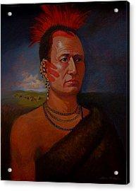 Pawnee Chief Around 1820 Acrylic Print by Alan Carlson