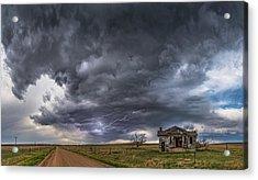 Pawnee School Storm Acrylic Print by Darren White