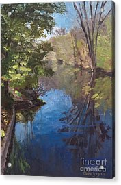 Pawtucket Canal Acrylic Print