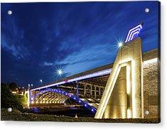 Seekonk River Bridge Acrylic Print