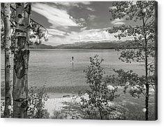 Payette Lake Boarder Acrylic Print
