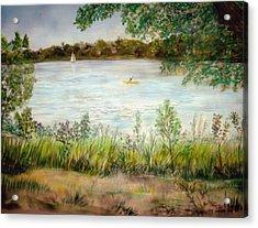 Paynes Prairie Lake Acrylic Print