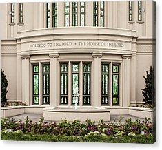 Payson Temple - House Of The Lord Acrylic Print