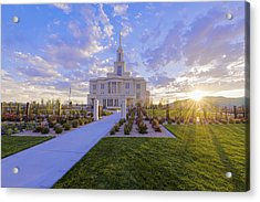Acrylic Print featuring the photograph Payson Temple I by Chad Dutson