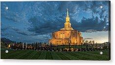 Payson Temple Panorama Acrylic Print