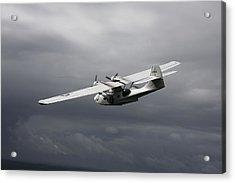 Pby Catalina Vintage Flying Boat Acrylic Print by Daniel Karlsson
