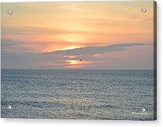 Acrylic Print featuring the photograph Pea Island Sunrise by Barbara Ann Bell