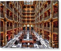 Peabody Library - Johns Hopkins University Acrylic Print