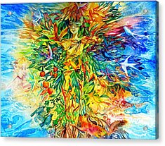Peacable Kingdom Acrylic Print by Trudi Doyle