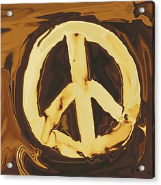 Acrylic Print featuring the digital art Peace 2 by Rabi Khan