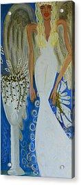 Peace And Love Angel Acrylic Print by Helen Gerro