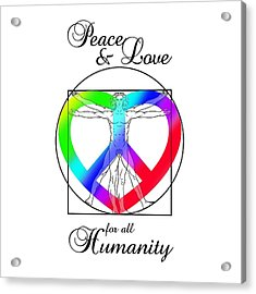 Peace And Love For All Humanity Acrylic Print by Az Jackson