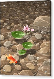 Acrylic Print featuring the painting Peace And Quiet by Veronica Minozzi
