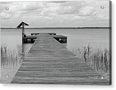 Peace And Serenity II-black And White Acrylic Print by Suzanne Gaff