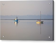 Peace At Anchor Acrylic Print by Mike  Dawson