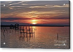 Peace Be With You Sunset Acrylic Print