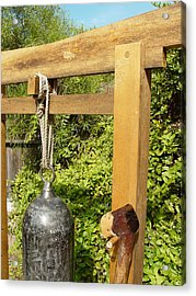 Peace Bell 2nd Image   Sold Acrylic Print by Steve Mudge