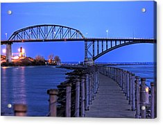 Peace Bridge From Nowak Pier Acrylic Print
