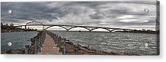 Peace Bridge Acrylic Print by Guy Whiteley