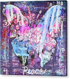 Peace Butterfly Acrylic Print