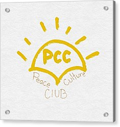 Peace Culture Club Logo Acrylic Print by Joshua Stepney