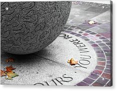 Peace Memorial Acrylic Print by JAMART Photography