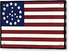 Peace Flag Acrylic Print by Bill Cannon