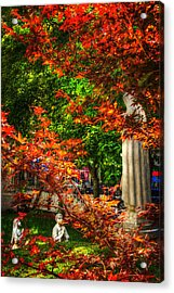 Peace Garden - St Leonard's Church - Boston Acrylic Print by Joann Vitali