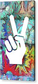 Peace Hand Sign 1  Acrylic Print