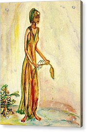 Acrylic Print featuring the painting Peace by Helena Bebirian