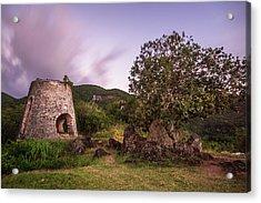Peace Hill Ruins Acrylic Print by Adam Romanowicz