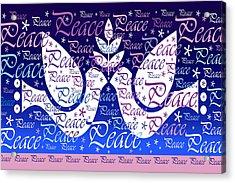 Peace Holiday Card Acrylic Print