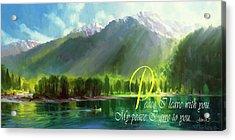 Peace I Give You Acrylic Print