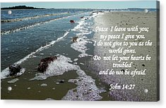 Peace I Leave You Acrylic Print