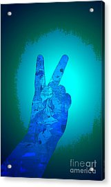 Peace In The Headlight Acrylic Print by Sean-Michael Gettys