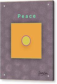 Peace Acrylic Print by Jack Eadon